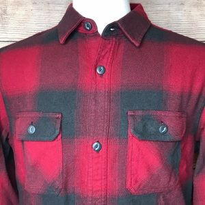 Men's Hawk Flannel Long Sleeve Button Down Shirt
